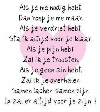 Een mooi gedichtje voor al mijn vrienden!