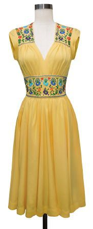 Del Rio - 40s style mexican dress. Pretty much sums it up for me. With some blue flats.
