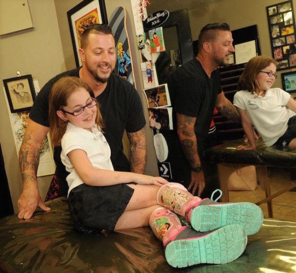 You'll Be Shocked When You See What a Tattoo Artist Did to This Little Girl