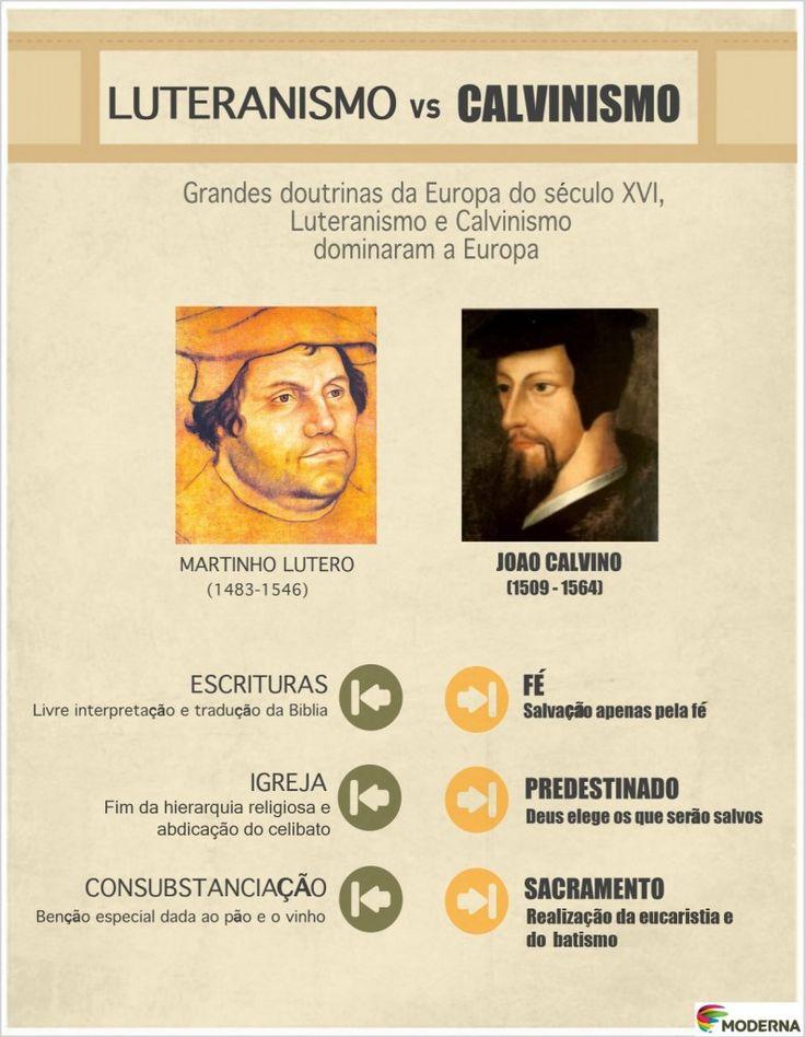Lutero e Calvino: http://pnld.moderna.com.br/2013/07/10/lutero-calvino-e-a-reforma-protestante/