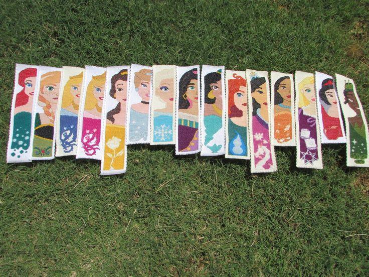 Disney Princess Cross-Stitch Bookmark Collection by DaydreamQueenMisha on DeviantArt