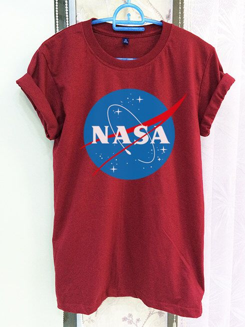 Nasa Shirt Clothing Logo Crimson Red Green Women Tshirt Tee Short Sleeve T-Shirt SMLXLXXL by SeeYouSupplies on Etsy https://www.etsy.com/listing/263850527/nasa-shirt-clothing-logo-crimson-red