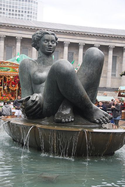 The Spirit of the River in Victoria Square, Birmingham, England.