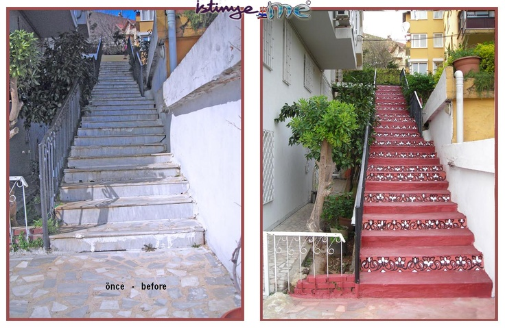 Works |  Level-6 | At our building's stairs...  http://www.istinye.me/gardens/homestairs.html