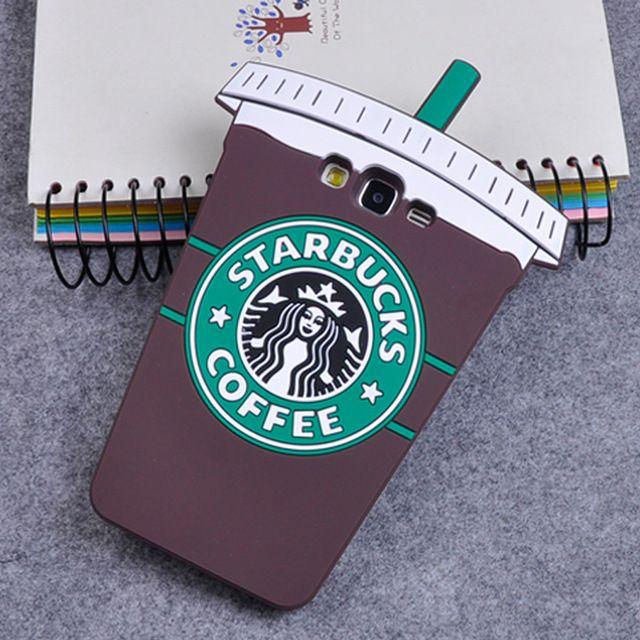 3D Bande Dessinée Starbuck Café Tasse Souple En Silicone Retour Housse pour Samsung Galaxy A3 A5 A7 J5 J7 Grand-Premier S7 S6 Bord S5