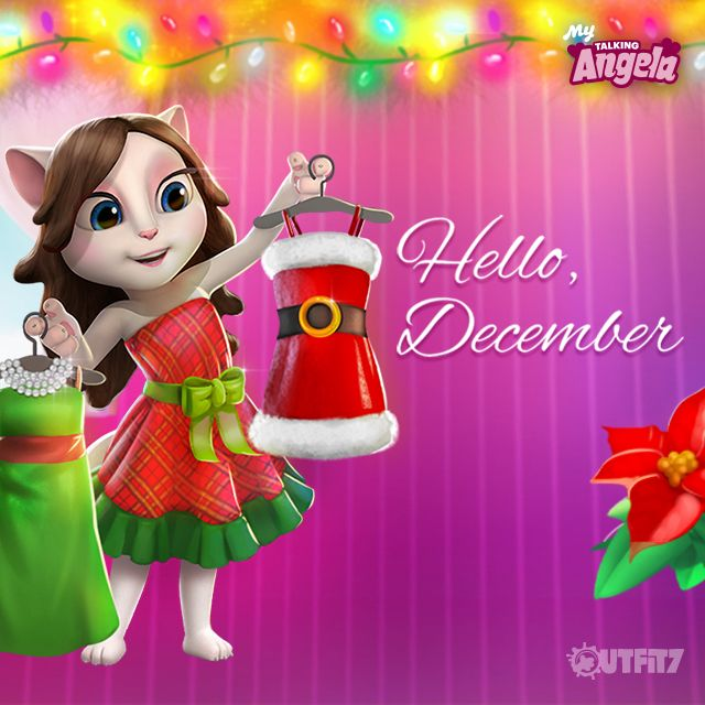 December, bring it on! Let the festivities beginAnd what better way to begin than with the latest My Talking Angela app update.  xo, Talking Angela #TalkingAngela #MyTalkingAngela #LittleKitties #celebration #surprise #video #YouTube #awesome #excited #grateful #app #bestapp #game #bestgame