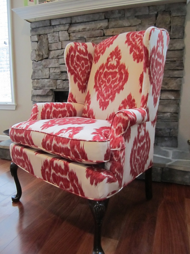 Wing back chairs are the coolest, I want one or two in my future home!