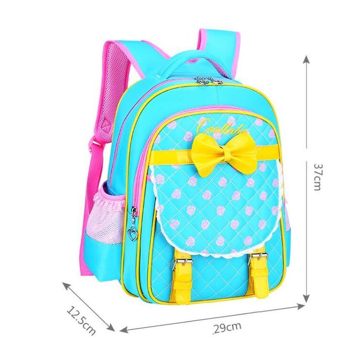 New Fashion Children School Bags for Girls School Backpack Kid Bag Child Backpacks with Bowtie Mochila Schoolbags Kids Satchel