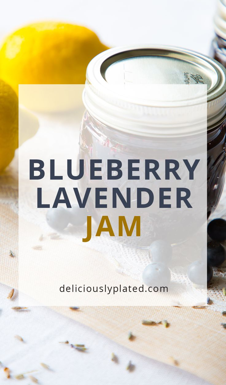 A unique flavor pairing of blueberry and lavender make this homemade blueberry lavender jam delicious and flavorful!