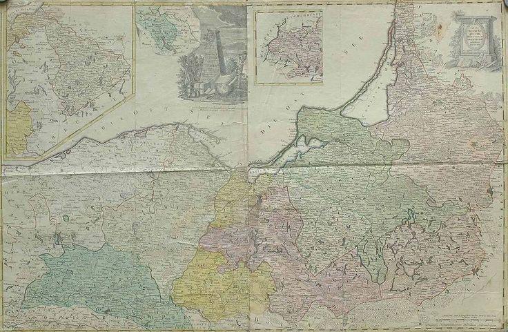 Kupferkarte Preußen 1775/80 Borussia Homann Erben Westpreußen Ostpreußen Danzig