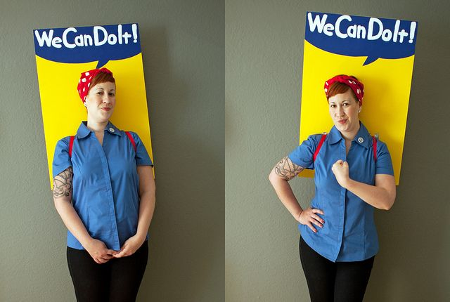We can do it! Costume: Holiday, Halloween Stuff, Halloween Idea, Halloween Costumes, Costume Ideas, Rosie The Riveter Costume, Costume Halloween