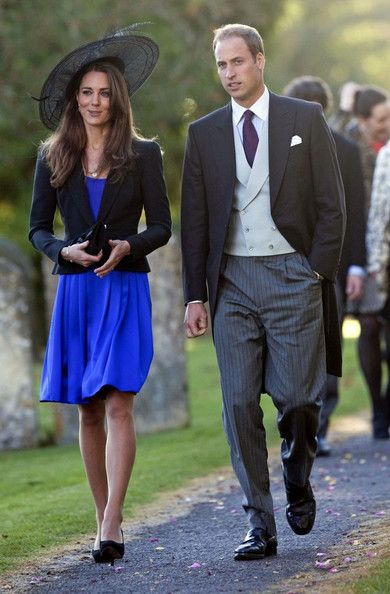 Prince William and Kate Middleton attend the wedding between event rider Harry Meade and Rosemarie Bradford at the Church of St Peter and St Paul. (Oct. 23, 2010