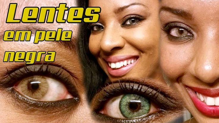 LENTES COLORIDAS E A BELEZA DA PELE NEGRA   NC Esmeralda , Hidrocor Verd...