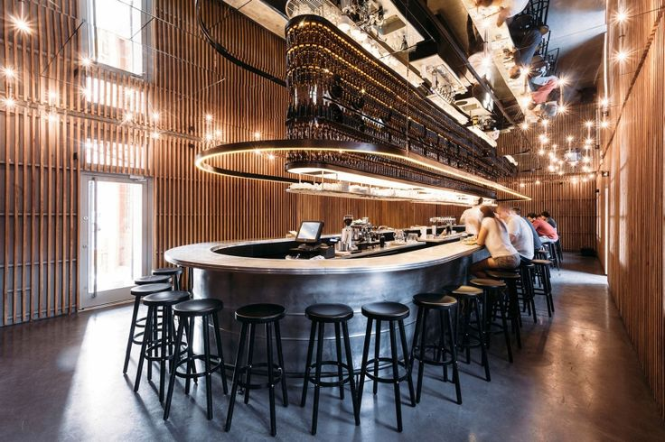 the flagship bar is dominated by a single 30-meter long counter, around which…