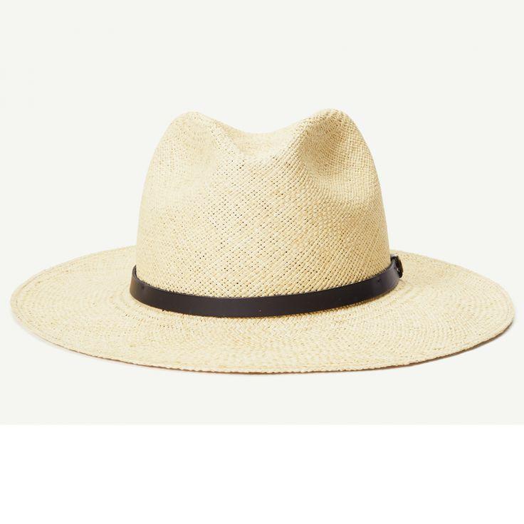 Scorpion Bay Navy Straw Wide Brim Fedora hat front view
