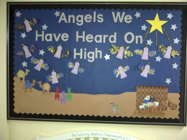 Angels We Have Heard On High Christmas Bulletin Board
