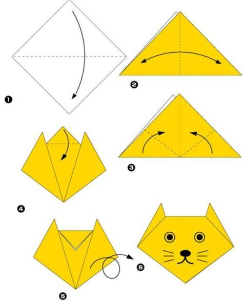 Simple origami for kids and their parents. Selection of funny and cute figures. …