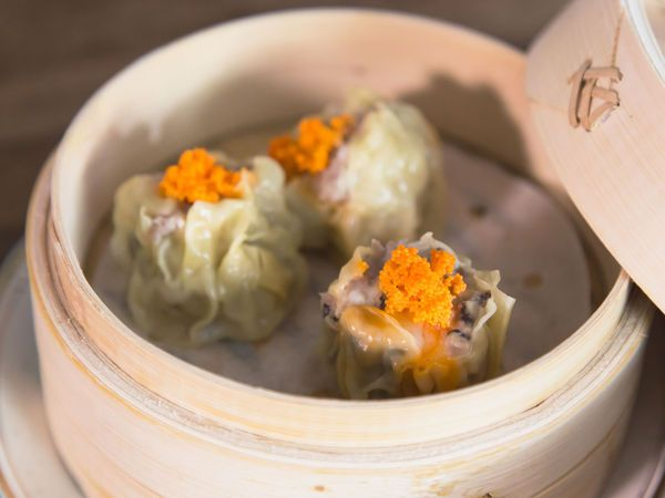 Masaharu Morimoto's Pork and Shrimp Shumai - steamed dumplings that don't need folding | SAVEUR