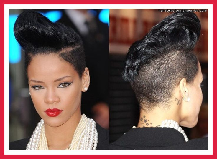Terrific Quiff Mohawk Rihanna Obsessed Pinterest Hairstyle Inspiration Daily Dogsangcom