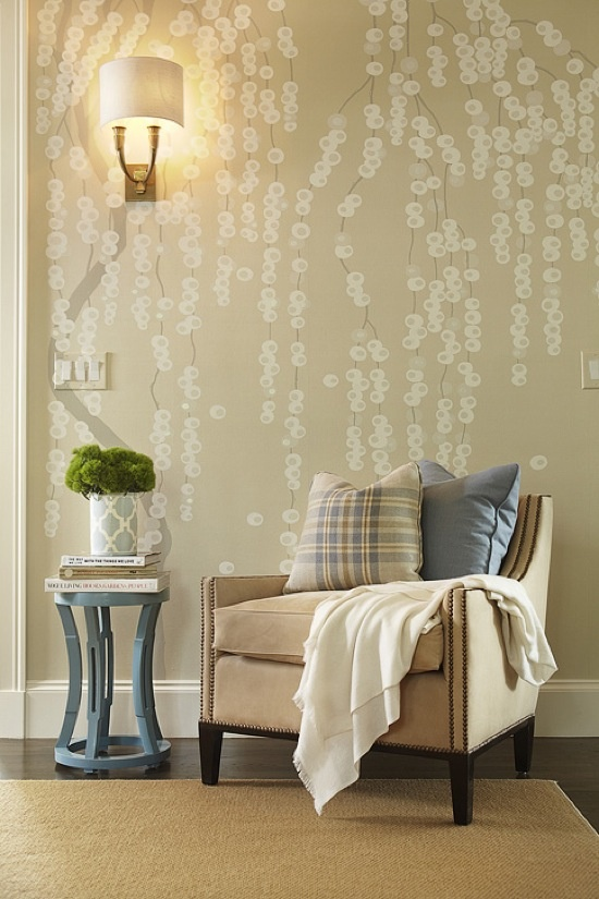 I am loving the wall!!!!!!!!!!!! Like over the top loving... may find this in my house.... soon... enough, simplified willow tree
