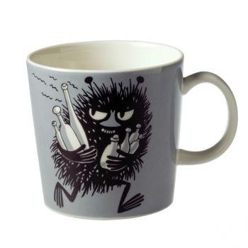 Stinky in a Moomin mug