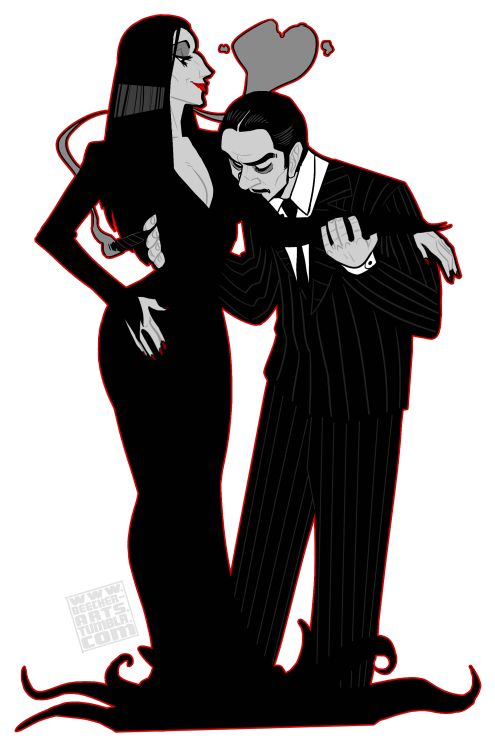 Morticia and Gomez. Always madly in Love.