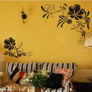 Flower and Vine Decal Wall Art Sticker