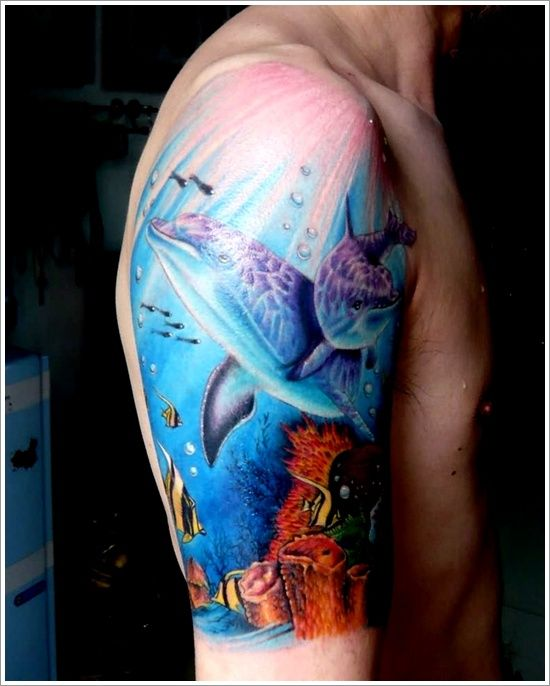 Tattoo Ideas Dolphin: 35 Best Images About Dolphin Tattoo Design On Pinterest
