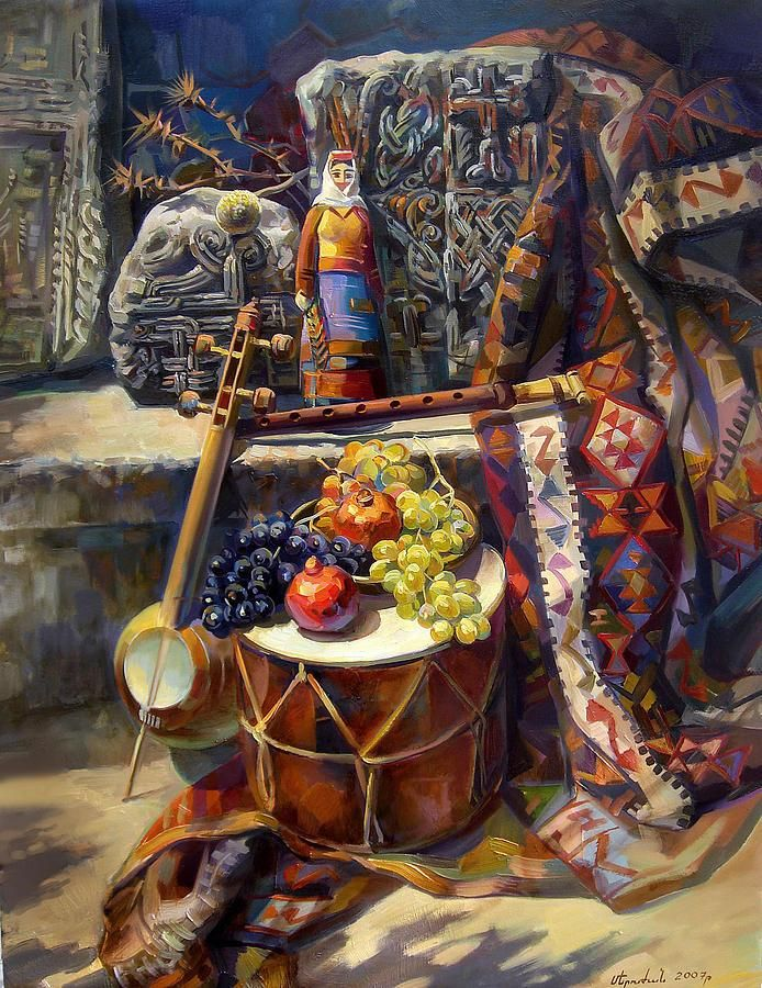 The Armenian Still-life With A Armenian Doll Painting