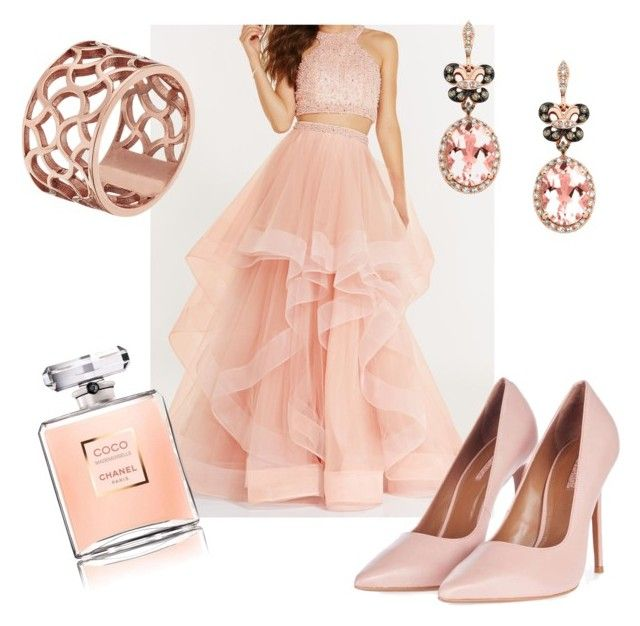 """#pinkromance"" by sanikova on Polyvore featuring Alyce Paris, Topshop, Tartesia and Effy Jewelry"