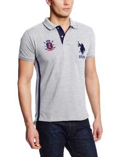 U.S. Polo Assn. Men's Solid Slim Fit Polo with Side Stripe and Collar Stripes, Heather Gray, Small U.S. Polo Assn.,http://www.amazon.com/dp/B00HN3GPPG/ref=cm_sw_r_pi_dp_5XCmtb10Z1DSAY7M