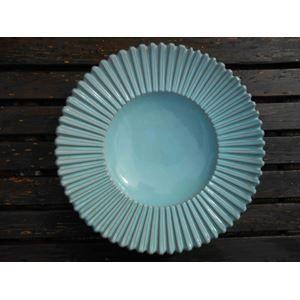 Keramik, Eslau fad  Eslau rundt fad med riller signeret serie 54/3. Lys grøn glasur, uden skår og meget fremstår i meget flot glasur. Diameter 29,5 cm og højde 5,5 cm. Sendes ikke.  400.