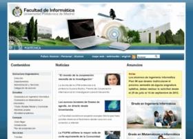 Web Facultad de Informatica, FI - UPM