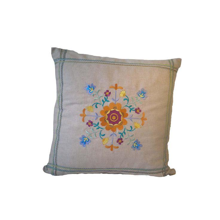 Embroidered Pillow Cover | Oficina d'Artesã