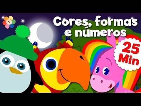 Vídeos Educativos para crianças – Compilação   Cores, formas, números e muito mais!   BabyFirst - YouTube