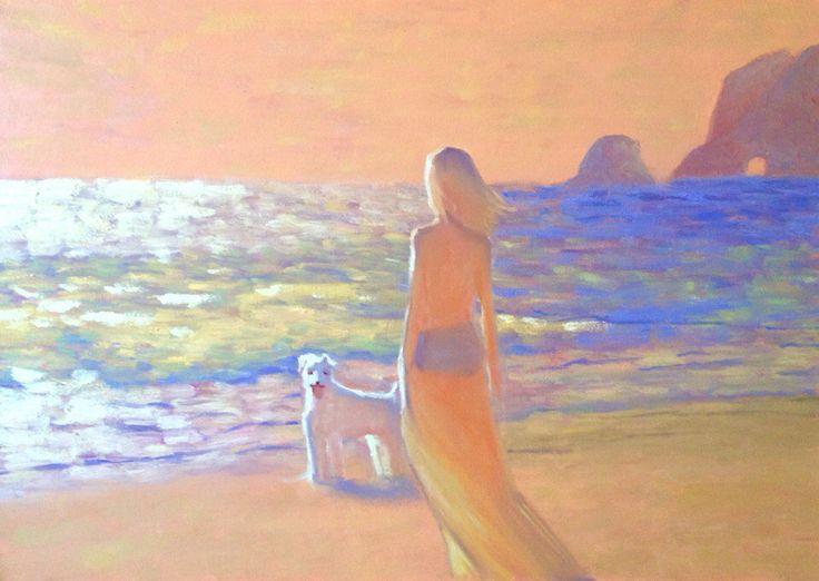 Меня зовут Полина Сахарова, я провожу мастер классы живописи в Москве. Не знаете куда пойти? Вы напишете красивую картину маслом на холсте с моей помощью за 4 часа. Стоимость 2500 р - все включено! Спешите записаться +79153401133 море закат собака девушка красивая картина яркая холст масло живопись арт art master class oil paint painting studio москва уроки живописи маслом научиться рисовать хенд мейд своими руками краски художник искусство handmade идеи творчество импрессионизм мастихин