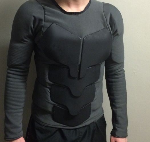 Custom Batsuit: practical combat armor (Photoshoot 2-22)
