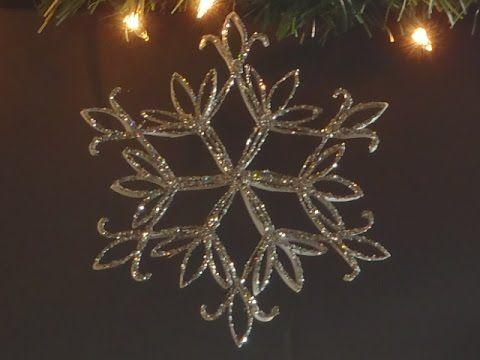 Decoração de Natal - ornamentos feitos a partir de tubos de papel higienico ou papel toalha. Muito facil de fazer!