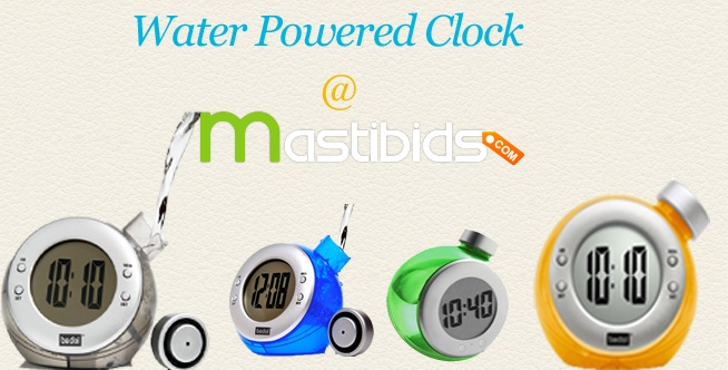 #Online #Auction – #Bid and #Win Water Powered Clock at Mastibids.Com    Mastibids.com is one of the chosen and best online bidding sites in India, where you can bid and win new gadgets every day through online bidding with very low prices.    To get more, http://mastibids.com/blog/?p=1032