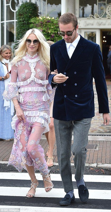 To have and to hold: Stunning Italian heiress Beatrice Borromeo is given a helping hand by her royal groom Pierre Casiraghi ahead of ceremony at her parents' lakeside castle | Daily Mail Online