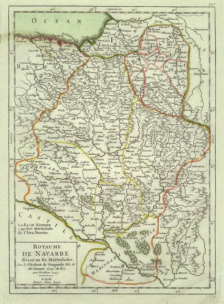 Antiguo mapa del Reino de Navarra :: Royaume de Navarre :: Old map: Old Maps, De Navarre, Map, Del Reino, Reino De, Antiguo Mapa, De Navarra, Royaume De