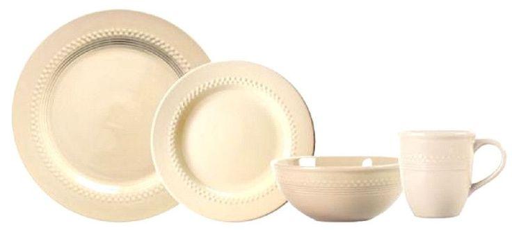 Knack3 161103 Cream Dinnerware Set Gooseberry Patch 8 Piece
