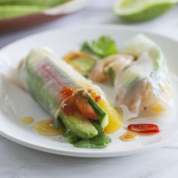 Fresh Prawn Avocado Spring Rolls