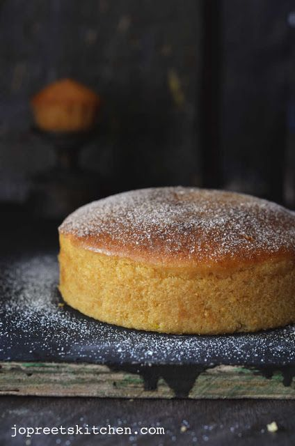 Lemon Sponge Cake (Egg-less & Butter-less)