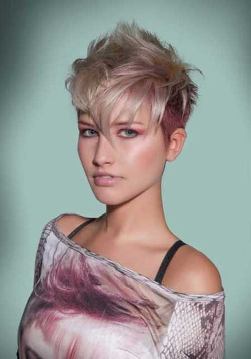 15 Short Blonde And Pink Hairstyles | http://www.short-haircut.com/15-short-blonde-and-pink-hairstyles.html