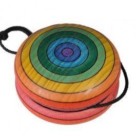 Rainbow Yo-Yo. Handpainted in Austria from Bella Luna Toys. $12.95