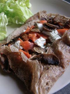 Rosenoisettes, Calme et Gourmandises...: Galettes de sarrasin au saumon fumé, chèvre frais,...