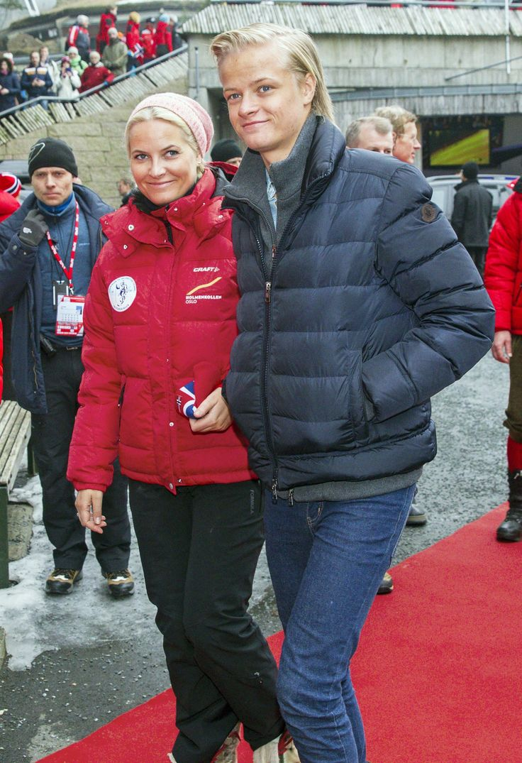 Mette-Marit with her son Marius Borg Høiby