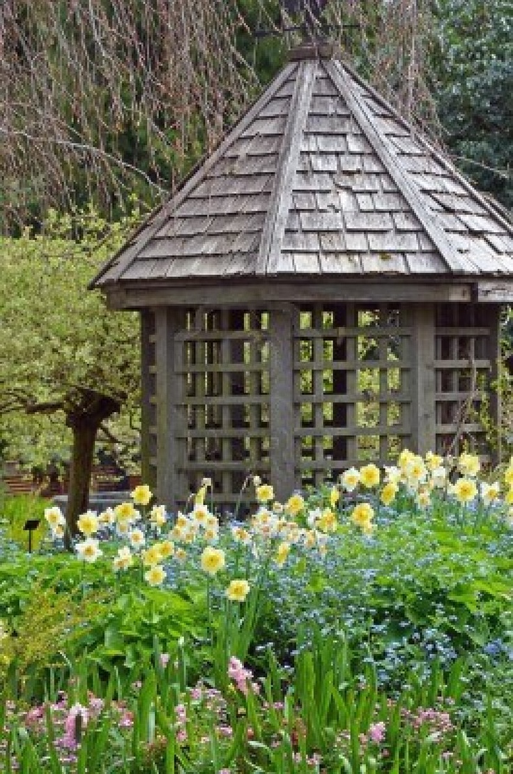 old wooden gazebo