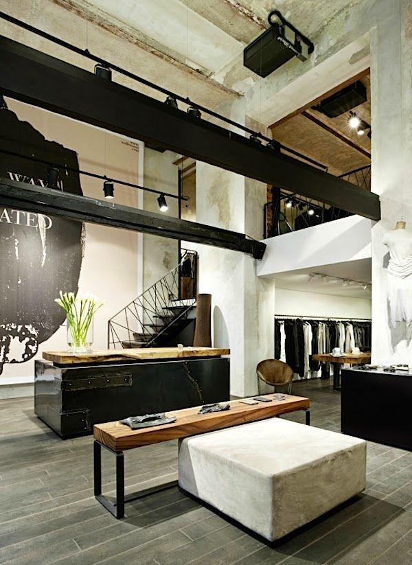 Vienne / Boutique Wolfensson : du béton et du bois /                                                                                                                                                                                 More